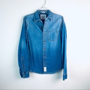 Abercrombie & Fitch Muscle denim jean shirt